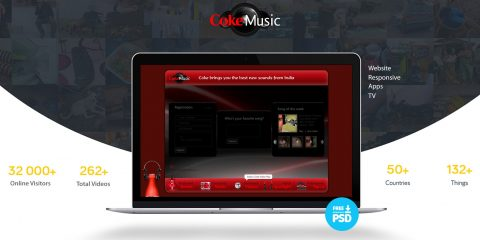 Free Download Music responsive template PSD