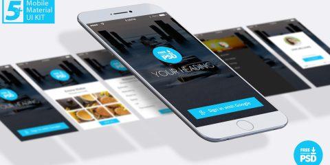 5+ Mobile Material UI Design Free Download PSD .com