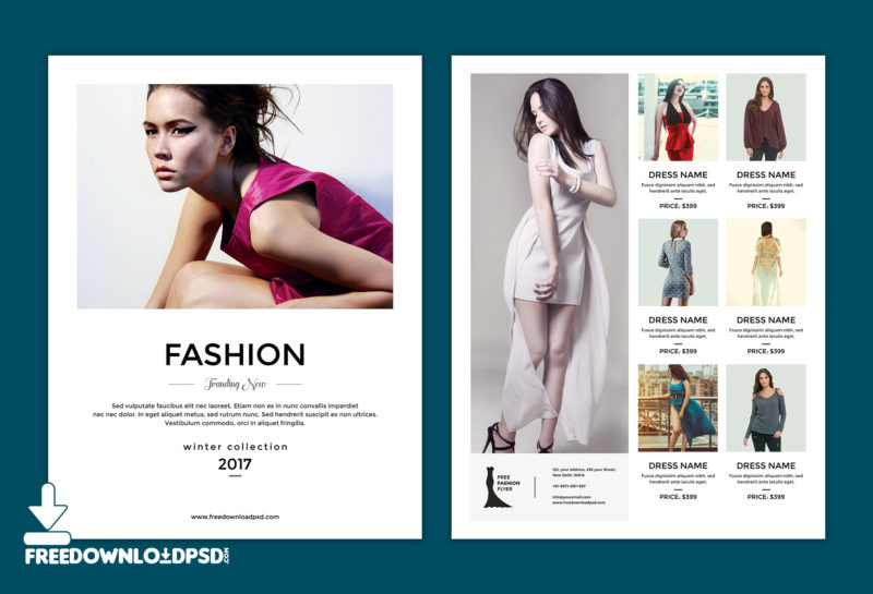 Free Multipurpose Fashion Flyer Template | Freedownloadpsd.Com