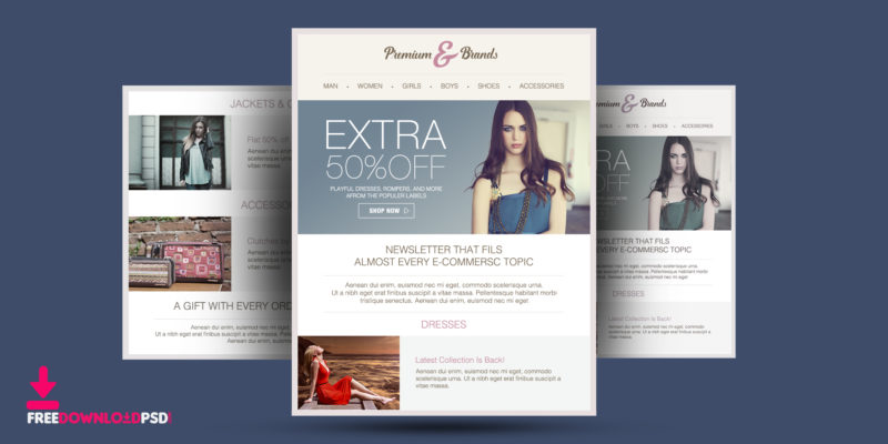 Multipurpose Retail Fashion Templates Newsletter