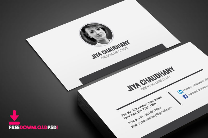 Creative Agency Visiting Cards Template PSD