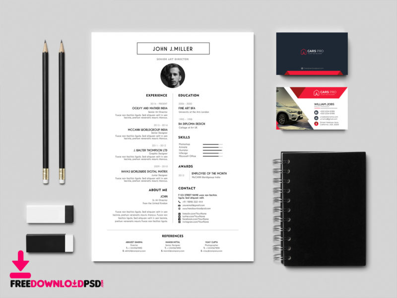 best free resume cv template freedownloadpsd com
