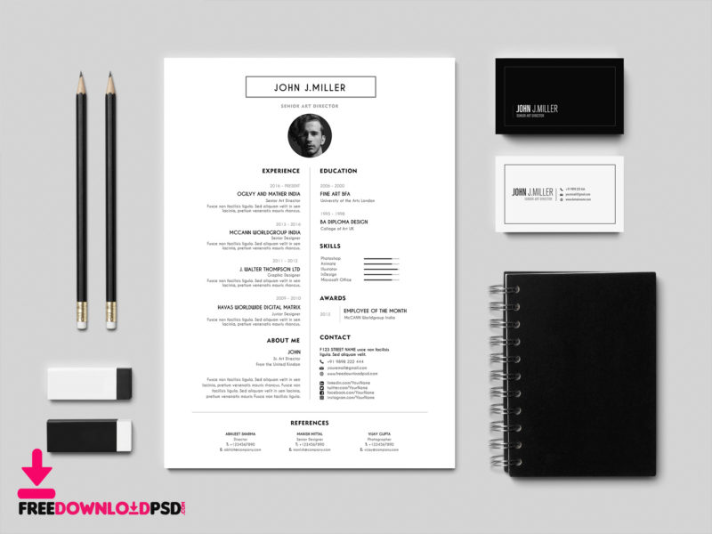 resume cv template design psd psd com best resume cv template