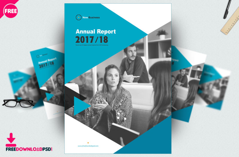 Free Brochure Annual Report template PSD | FreedownloadPSD.com