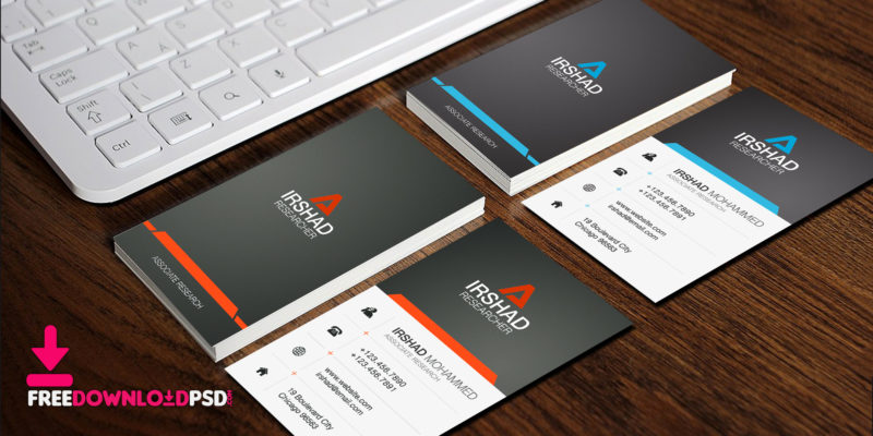 Free visiting cards template psd freedownloadpsd free visiting cards template psd accmission Choice Image