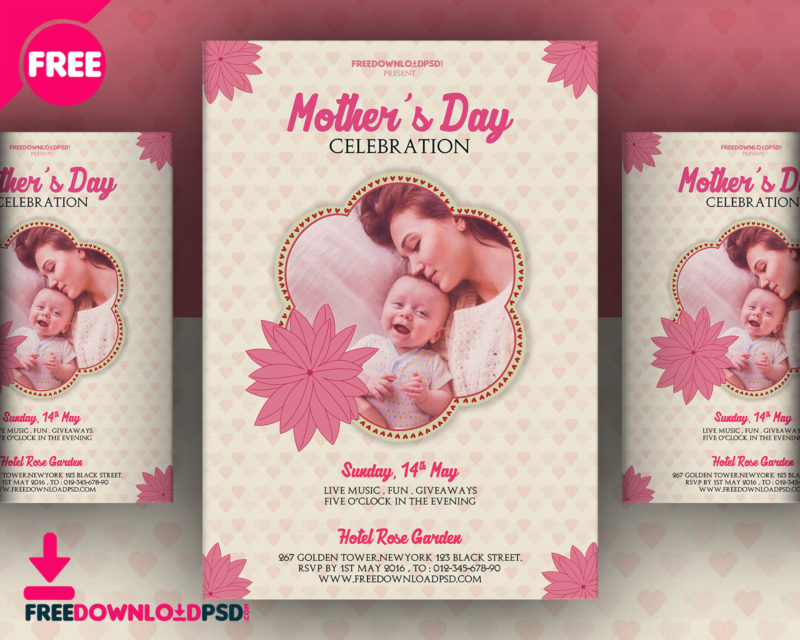 best mother u0026 39 s day flyer psd