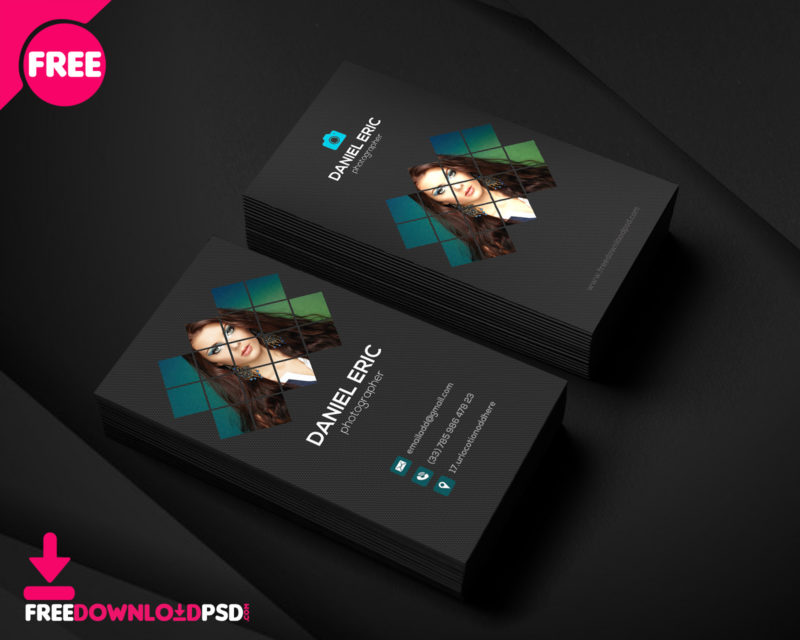 100 free business card psd templates best photographer business card template wajeb Image collections