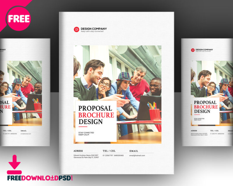 Business Proposal Brochure Template  FreedownloadpsdCom