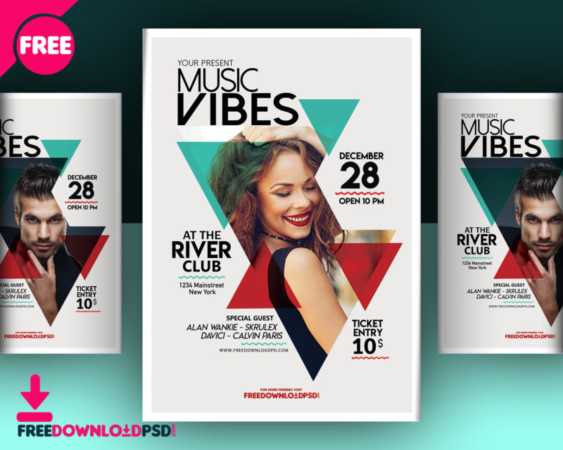 Download Music Club Flyer Template Freedownloadpsd
