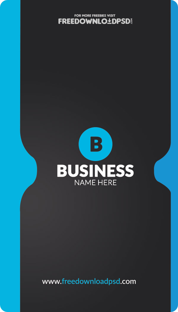 Free Corporate Business Card Template FreedownloadPSDcom - Website business card template