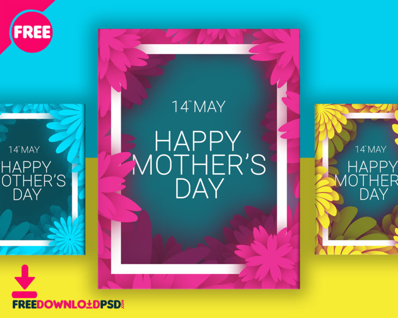 download  mothers day colorful flyer