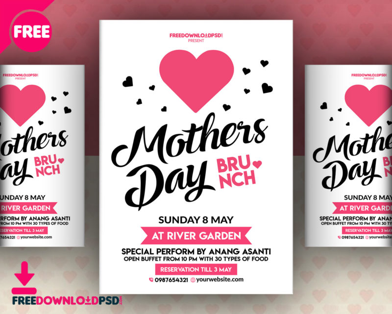 happy mothers day flyer free psd freedownloadpsd com