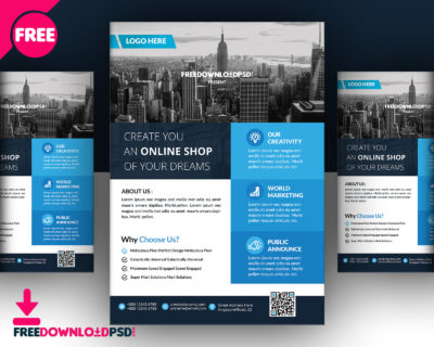 Real Estate Multipurpose Flyer Free PSD Template