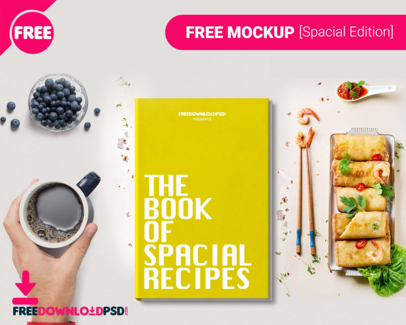 book cover free mockup freedownloadpsd com