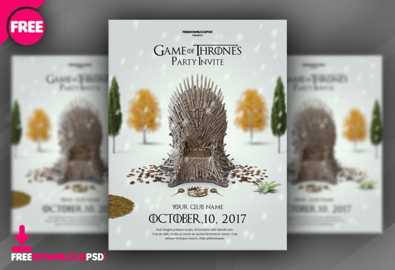 Game of thrones party invite