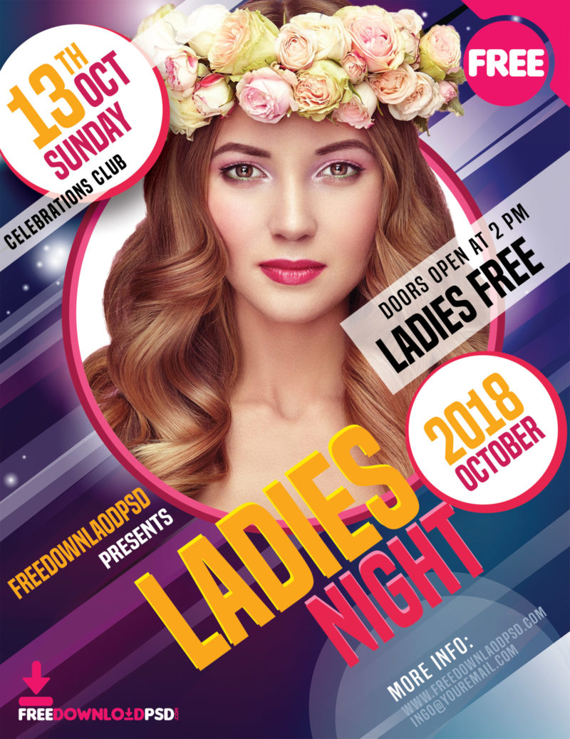 ladies night party flyer free download freedownloadpsd com