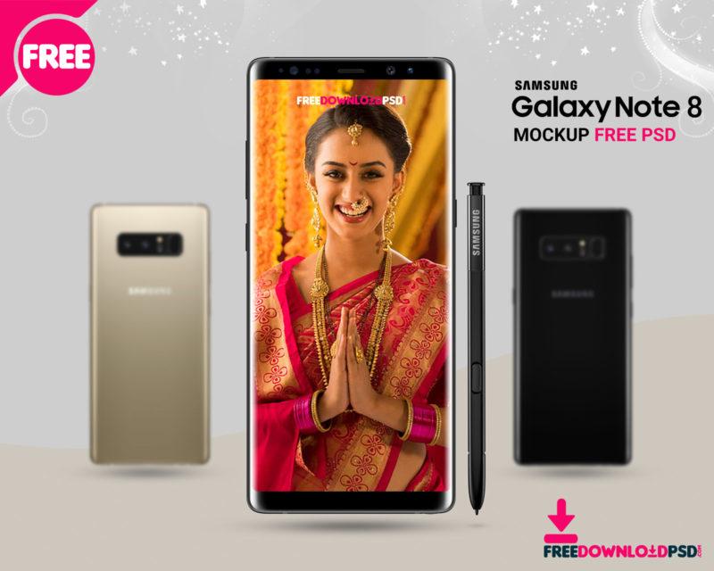 Free Samsung Galaxy Note 8 Mockup | FreedownloadPSD com