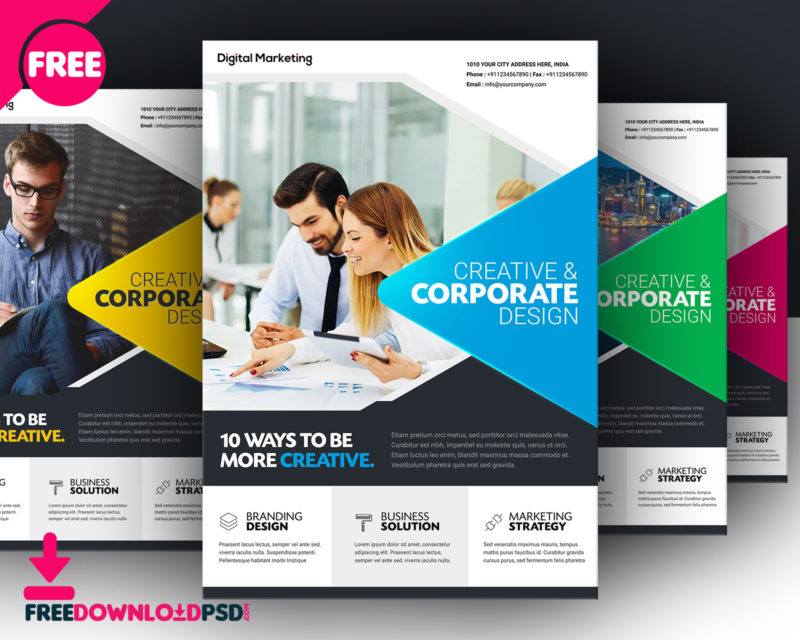 Downloadfree business flyer template freedownloadpsd advertisement flyers designs best business flyer design best flyer design brochure design friedricerecipe Choice Image