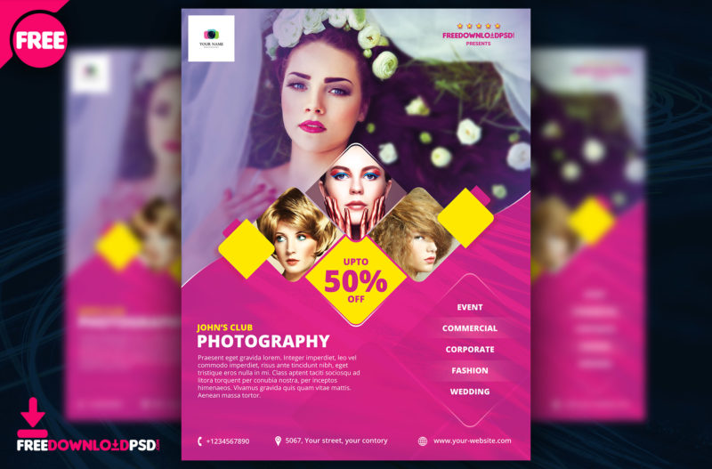 Free Photography Flyer Template Freedownloadpsd