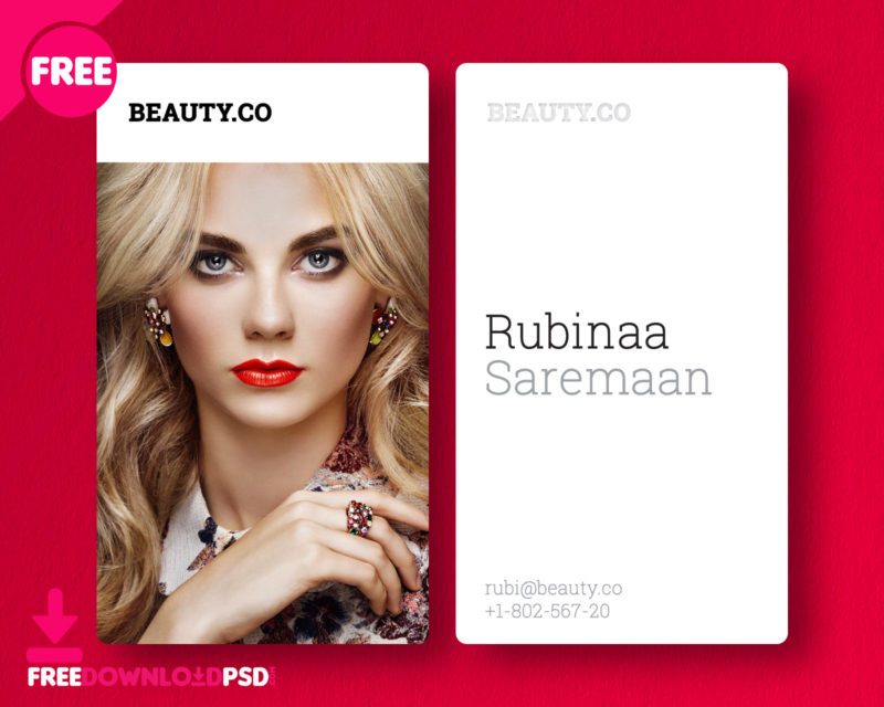 Free] Beauty Salon Business Card | FreedownloadPSD.com
