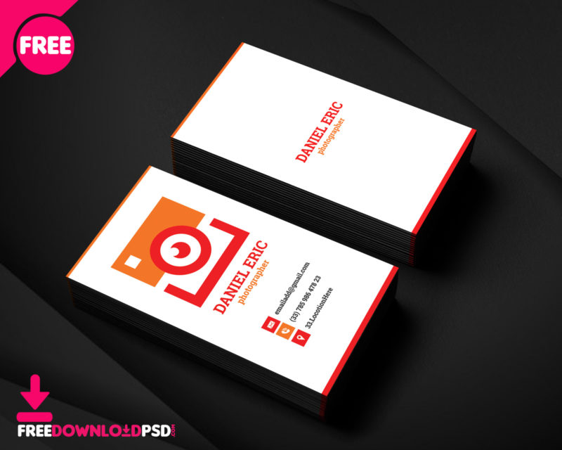 Free photographer business card freedownloadpsd corporate business card template corporate business card templates free download corporate business card vector reheart Images