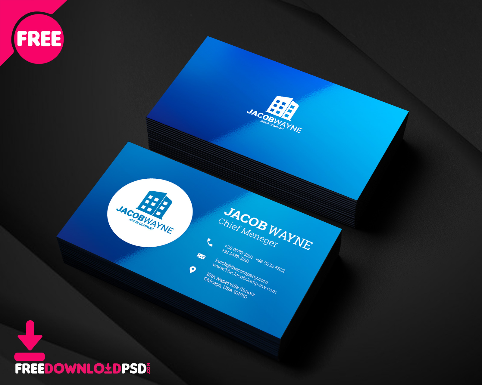 Real Estate Business Card PSD FreedownloadPSDcom - Business card templates psd free download