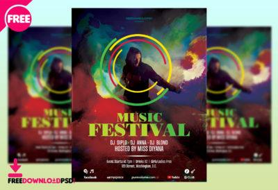Music Festival Flyer, Music Festival Flyer Template, Music Festival Poster Template  Free, Music  Flyer Layouts Free