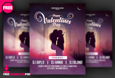 Free christmas party poster template freedownloadpsd valentine day flyer valentine psd template valentine party flyer psd free download free pronofoot35fo Gallery