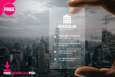 100 free premium business card psd freedownloadpsd transparent minimalistic business card fbccfo Choice Image