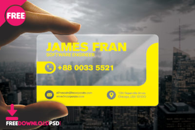 Free photographer business card freedownloadpsd premium visiting card psd transparent business card psd transparent business card mockup psd reheart Image collections