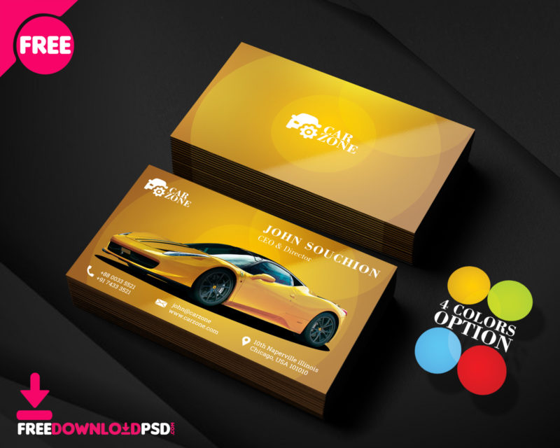 Automotive Business Card Templates PSD | FreedownloadPSD.com