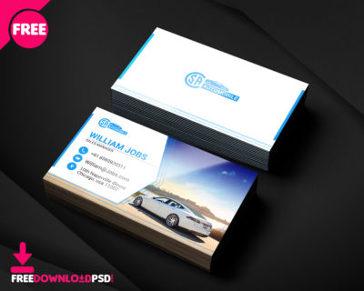 Transparent business card free psd freedownloadpsd automotive business card templates psd rent a car business card template free rent a flashek Choice Image