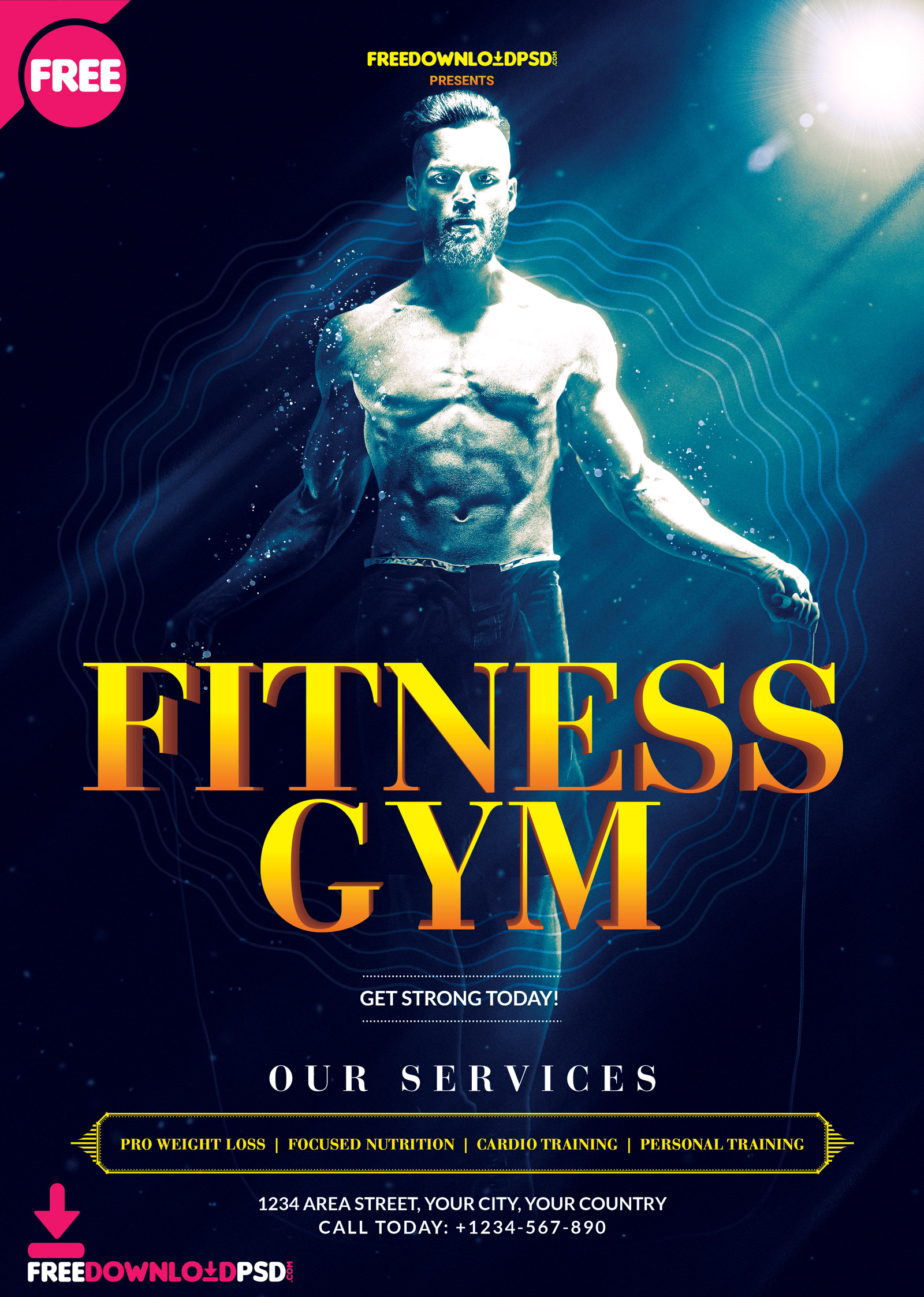Free Fitness Gym Flyer Psd Template Freedownloadpsd