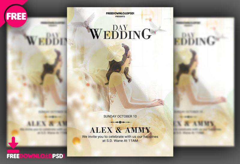 Wedding Flyer Template PSD | FreedownloadPSD com