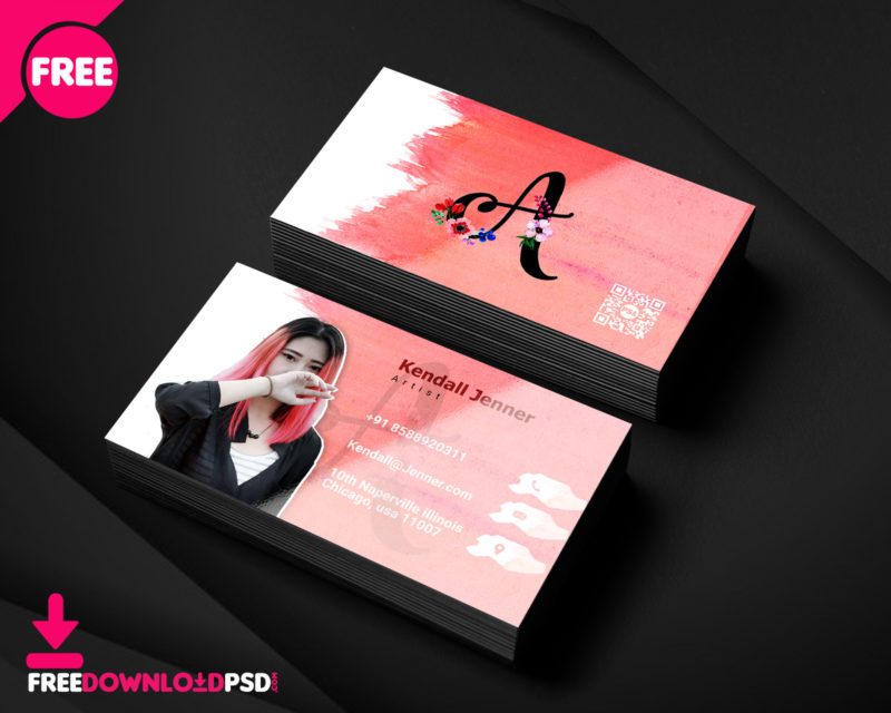 Artist business card psd template freedownloadpsd clean business card minimalist business card template free minimalist business card template psd friedricerecipe Choice Image
