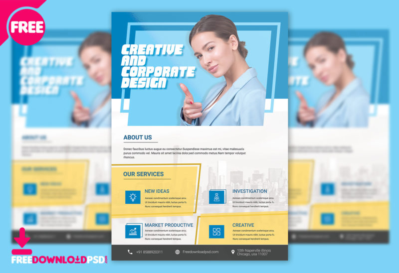 Corporate business flyer psd template freedownloadpsd corporate flyer psd free psd business flyer templates free download corporate flyer design free friedricerecipe Images