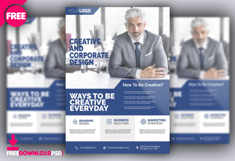 Free corporate flyer psd template freedownloadpsd corporate flyer psd free psd business flyer templates free download corporate flyer design free accmission