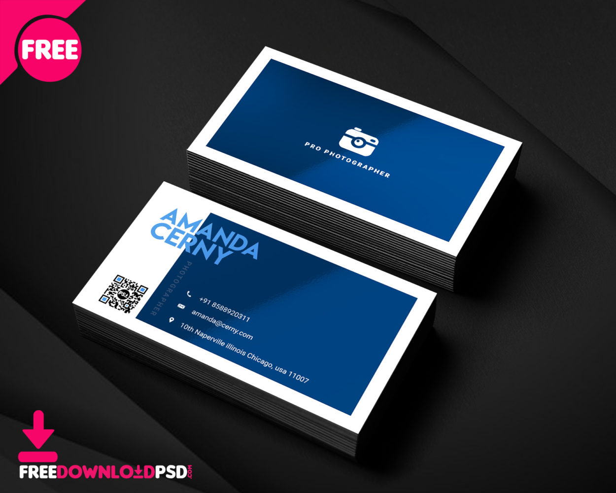 150 free business card psd templates photographer business card psd template wajeb Image collections