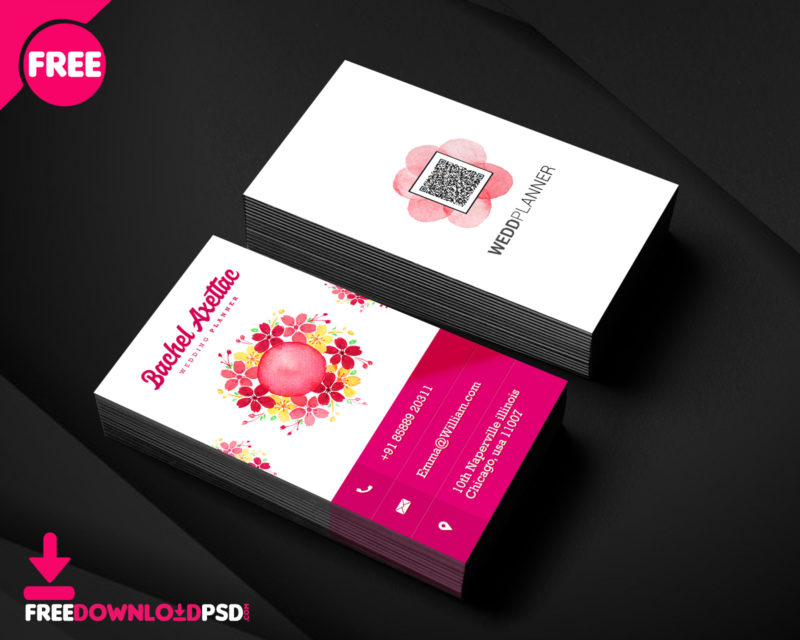 Wedding planner business card template freedownloadpsd clean business card minimalist business card template free minimalist business card template psd reheart
