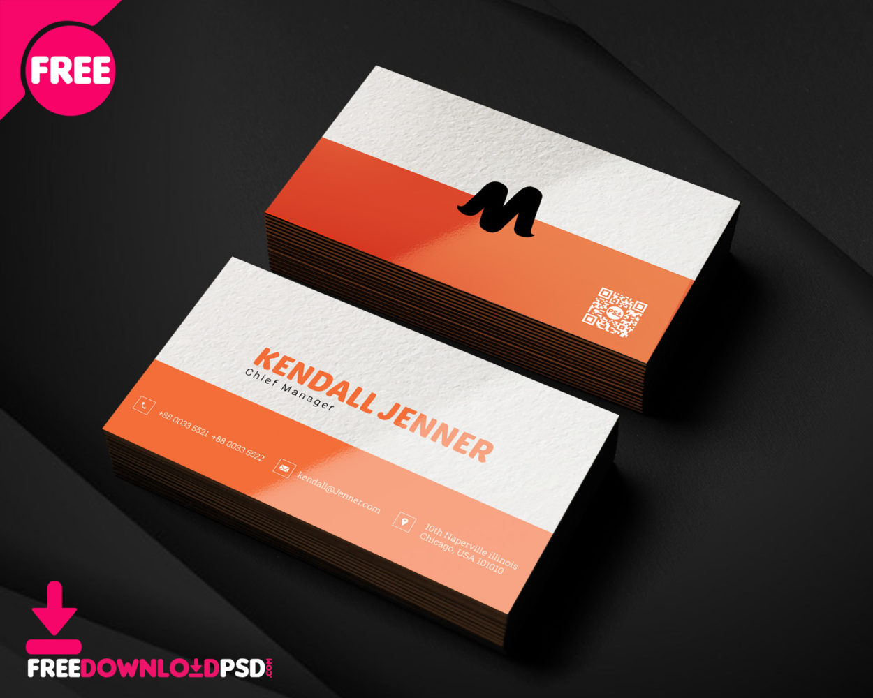 150 free business card psd templates professional business card psd template wajeb Choice Image