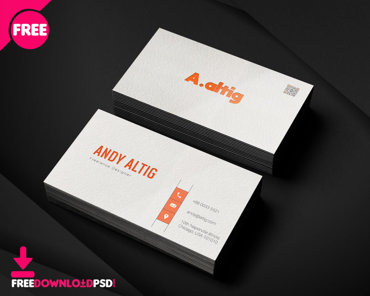 Freelance Business Card PSD Template