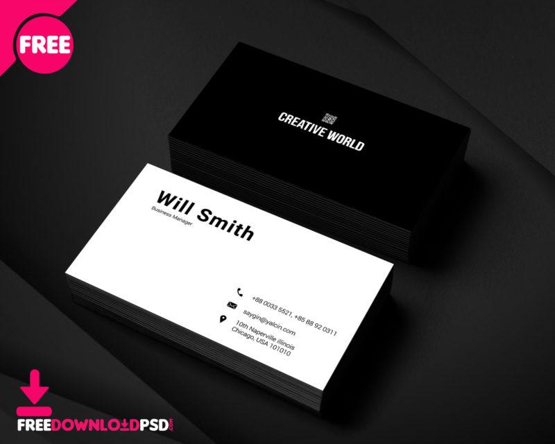 Minimal business card psd template freedownloadpsd colourmoves
