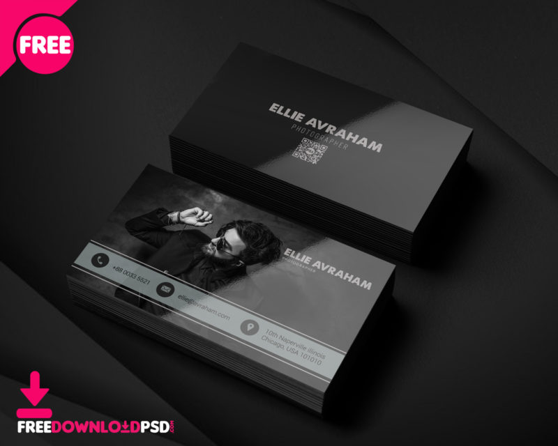 Photographer business card psd freedownloadpsd clean business card minimalist business card template free minimalist business card template psd fbccfo Images