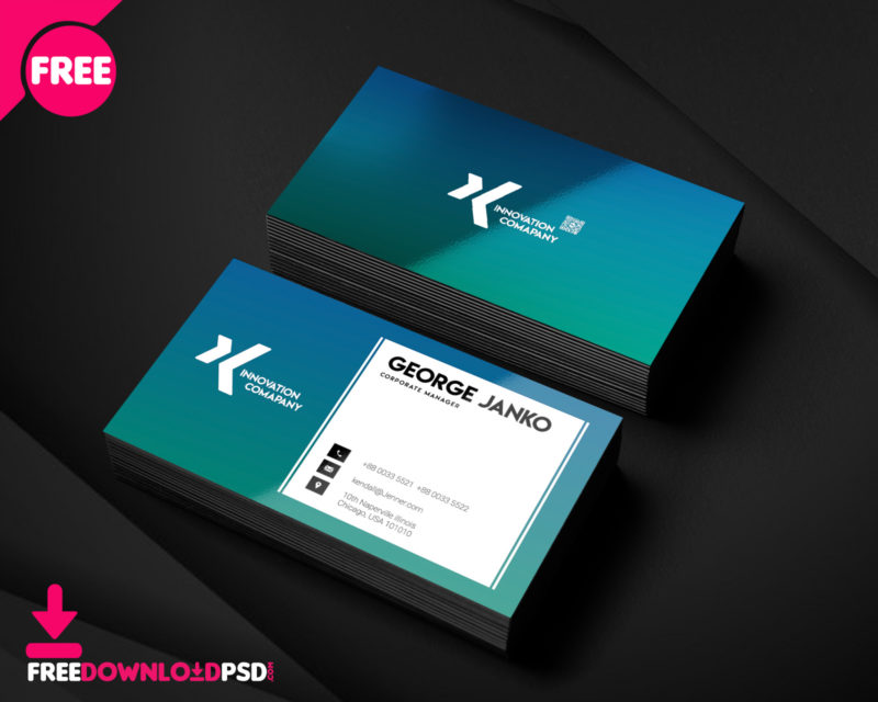 150 free business card psd templates corporate manager business card psd template wajeb Gallery