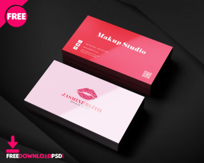 Artist business card psd template freedownloadpsd makeup artist business card psd template fbccfo Image collections