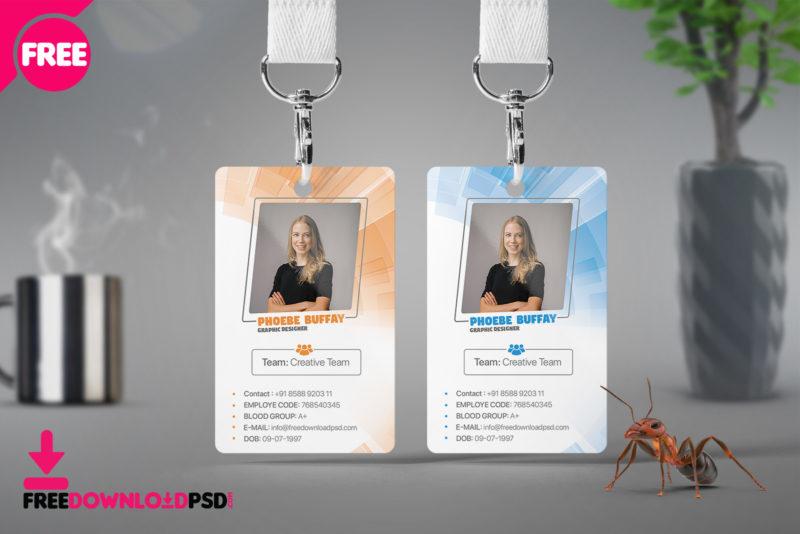 minimal identity card psd template