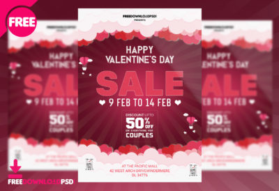 Valentines Party Flyer Psd Template Freedownloadpsd Com