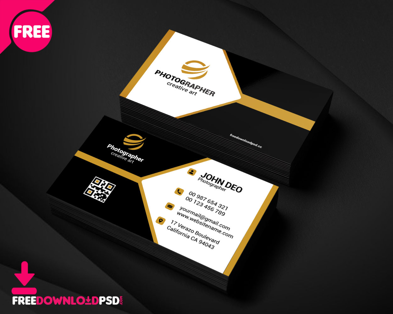 free sample photography business card  freedownloadpsd