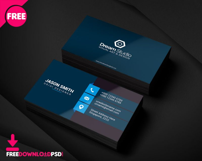 clean business crad psd template