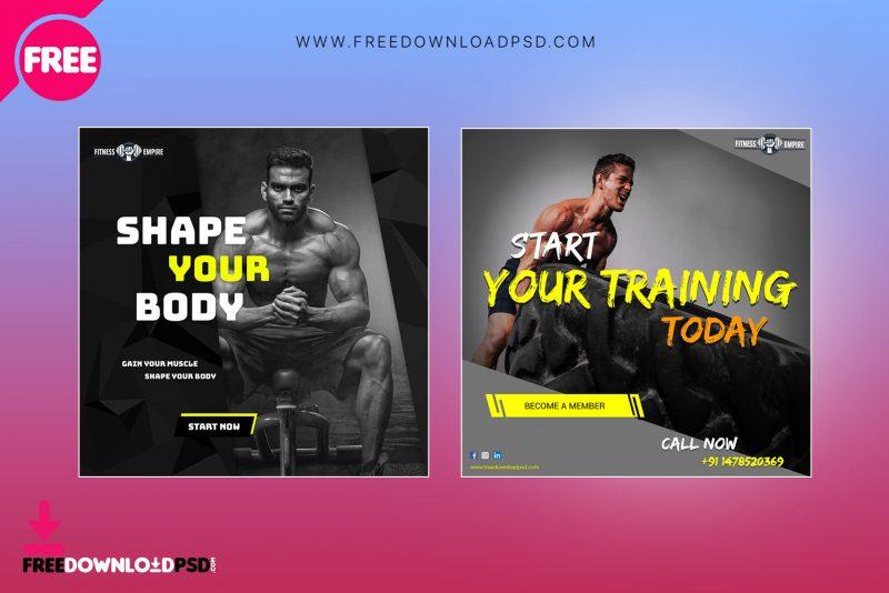 Fitness and Gym Social media PSD | FreedownloadPSD com